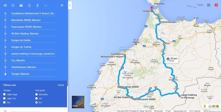 peta maroko