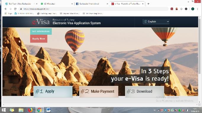 Situs resmi E Visa Turki