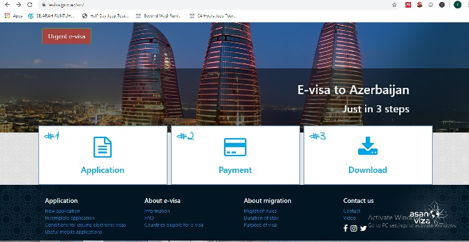 Situs resmi untuk membuat Visa Azerbaijan
