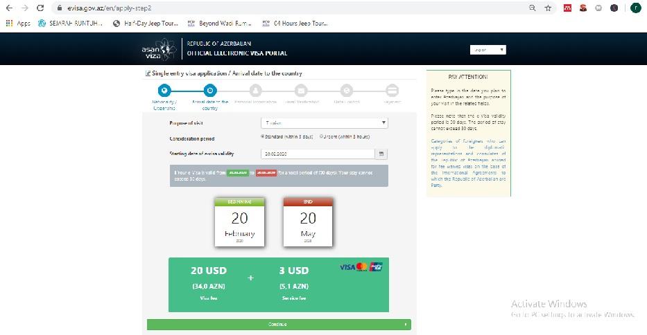 Cara Membuat Visa Azerbaijan