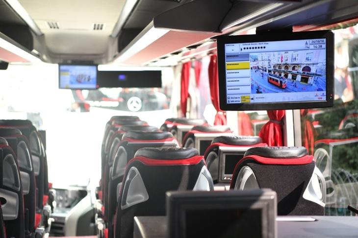 Bagian dalam bus Havaist